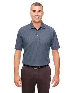 UltraClub UC100 - Men's Heathered Pique Polo