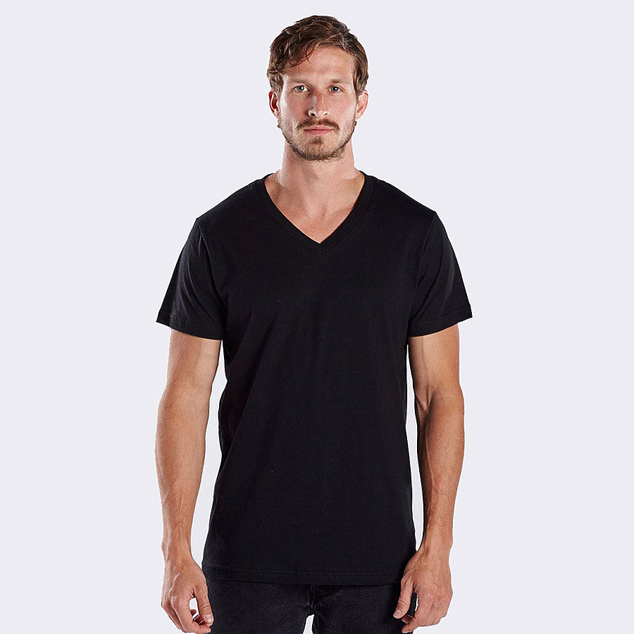 US Blanks US2200 - Men's Short Sleeve V-Neck