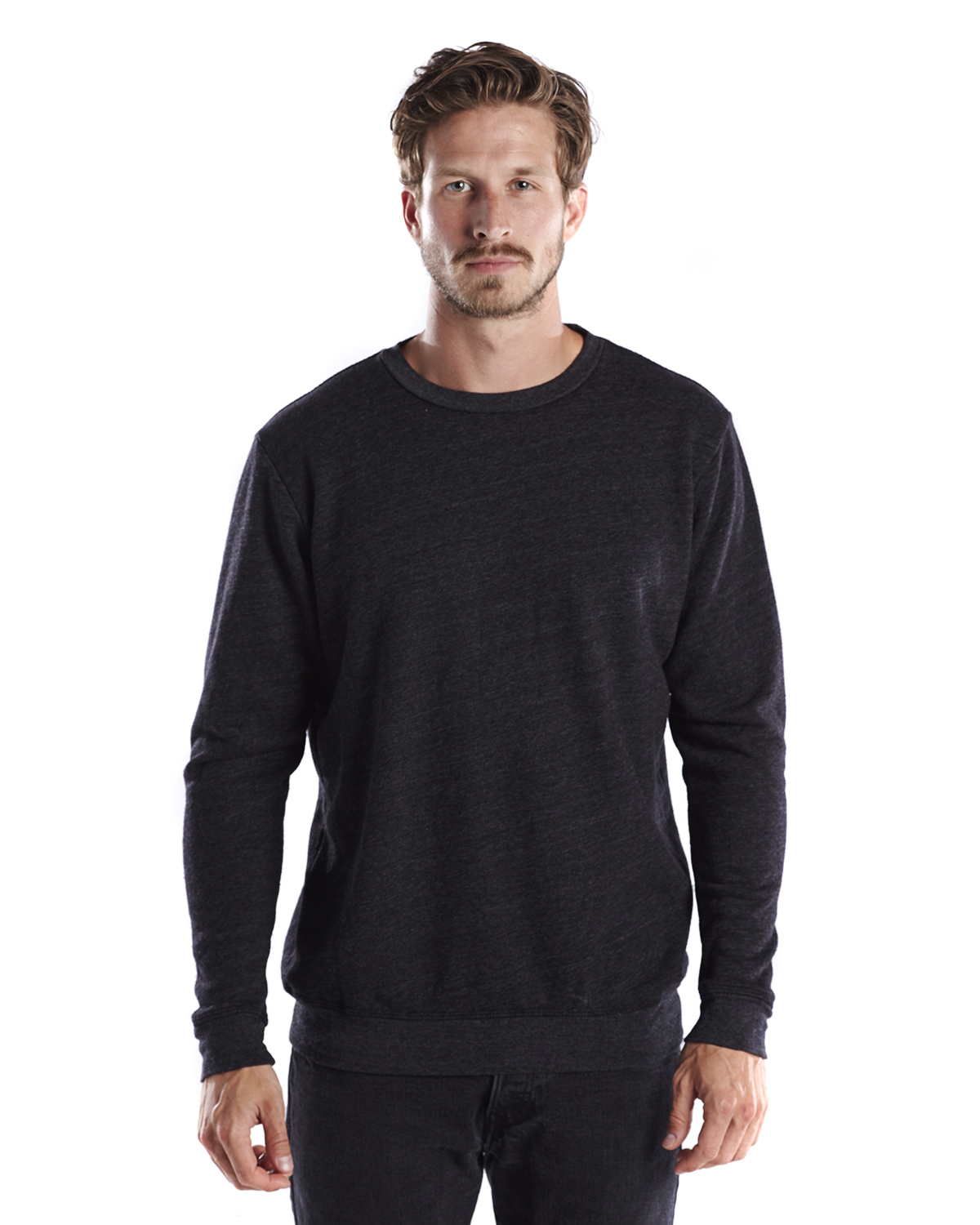 US Blanks US2211G - Unisex Heavyweight Loop Terry Triblend Long-Sleeve Crew