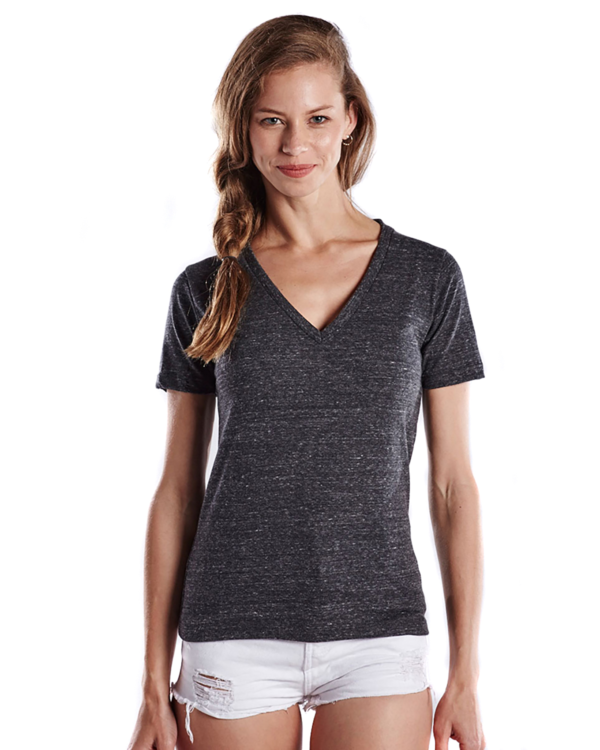 US Blanks US228 - Ladies' 4.9 oz. Short-Sleeve Triblend V-Neck