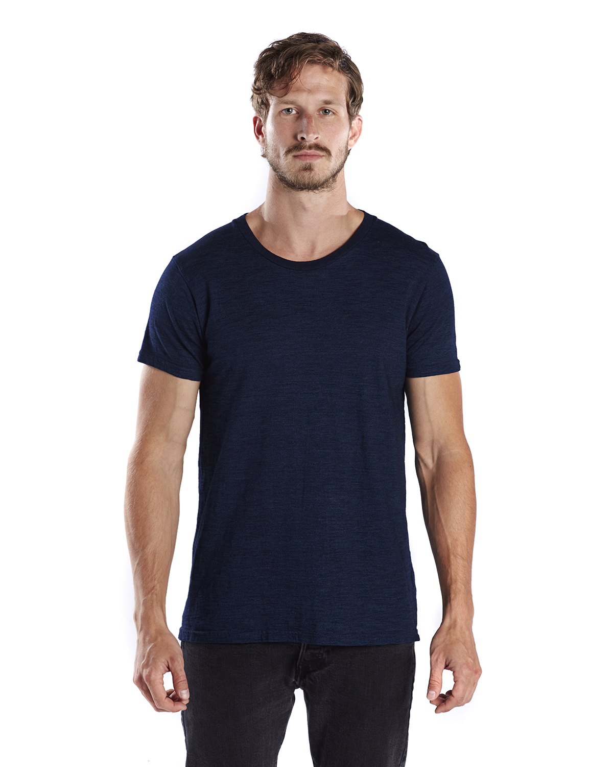 US Blanks US2404 - Men's 6 oz. True Indigo Crew