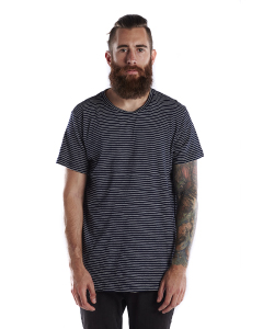 US Blanks US2404S - Men's 6 oz. True Indigo Striped ...