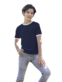 US Blanks US2609K - Youth Classic Ringer T-Shirt