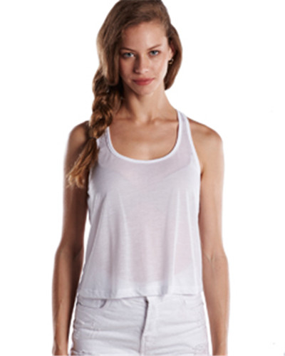 US Blanks US510 - Ladies' Sheer Cropped Racer Tank