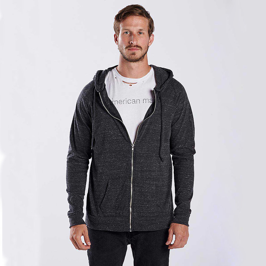 US Blanks US655 - Tri-Blend Zip Hoody