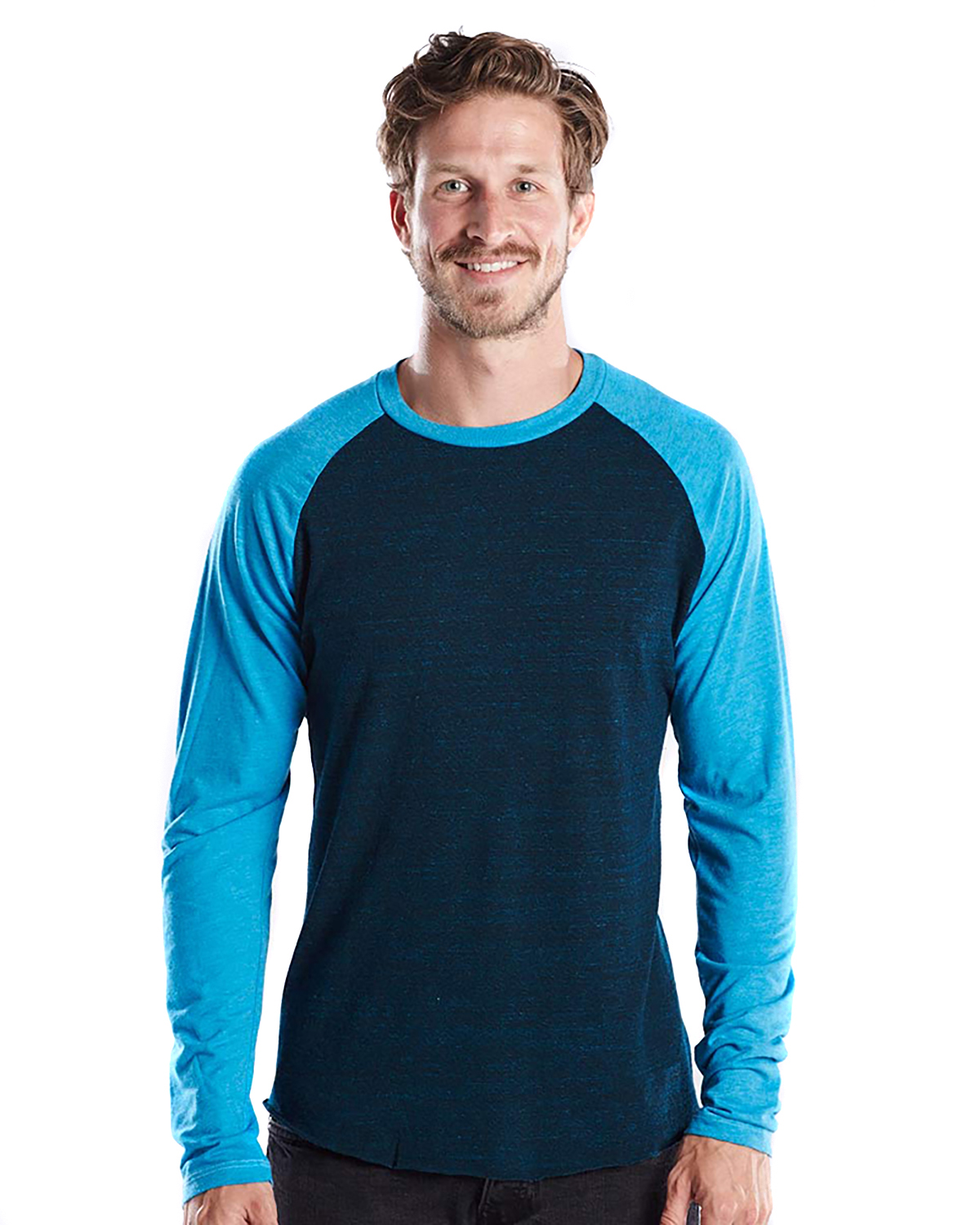 US Blanks US660OD - Men's 4.5 oz. Long-Sleeve Triblend ...