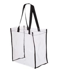 Valubag VB5004 - 12L Black Accent Clear Tote Bag