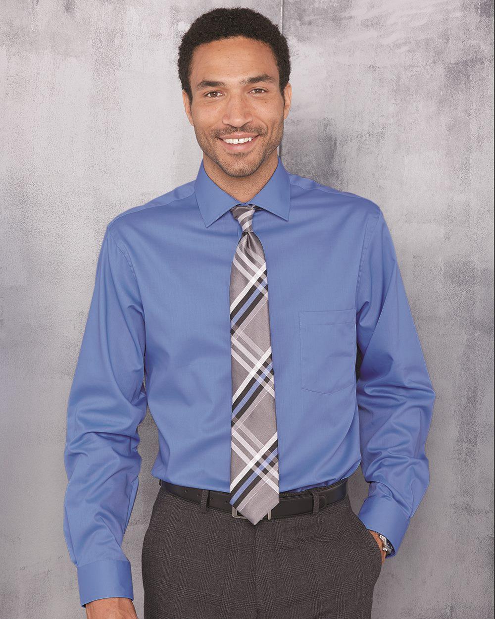 Van Heusen 13V0439 男士纯色修身长袖商务正装衬衫