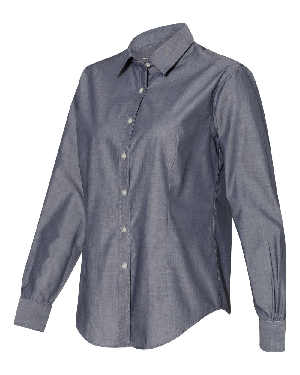 Van Heusen 13V0466 - Women's Chambray Spread Collar ...