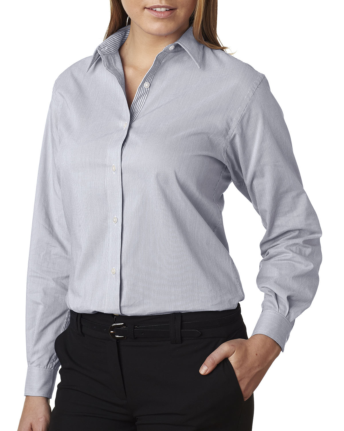 Van Heusen V0236 - Ladies' Long-Sleeve Feather Stripe ...