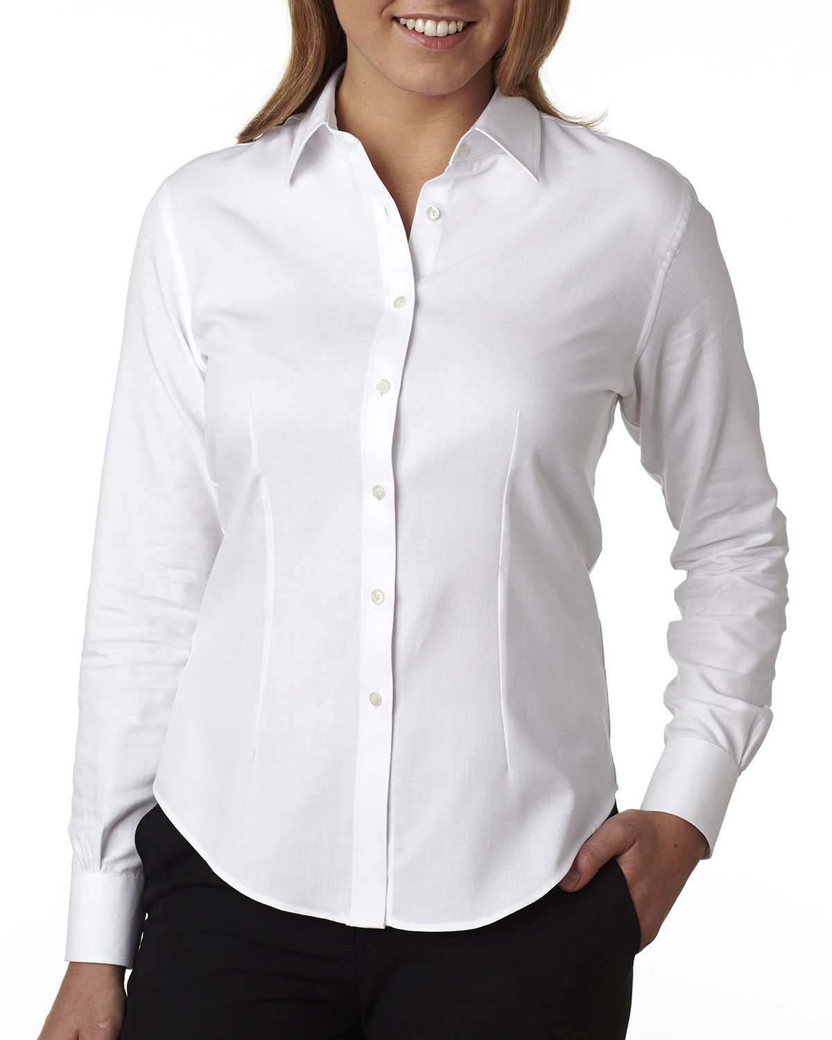Van Heusen V0397 - Ladies' Long-Sleeve Ring-Spun Performance ...