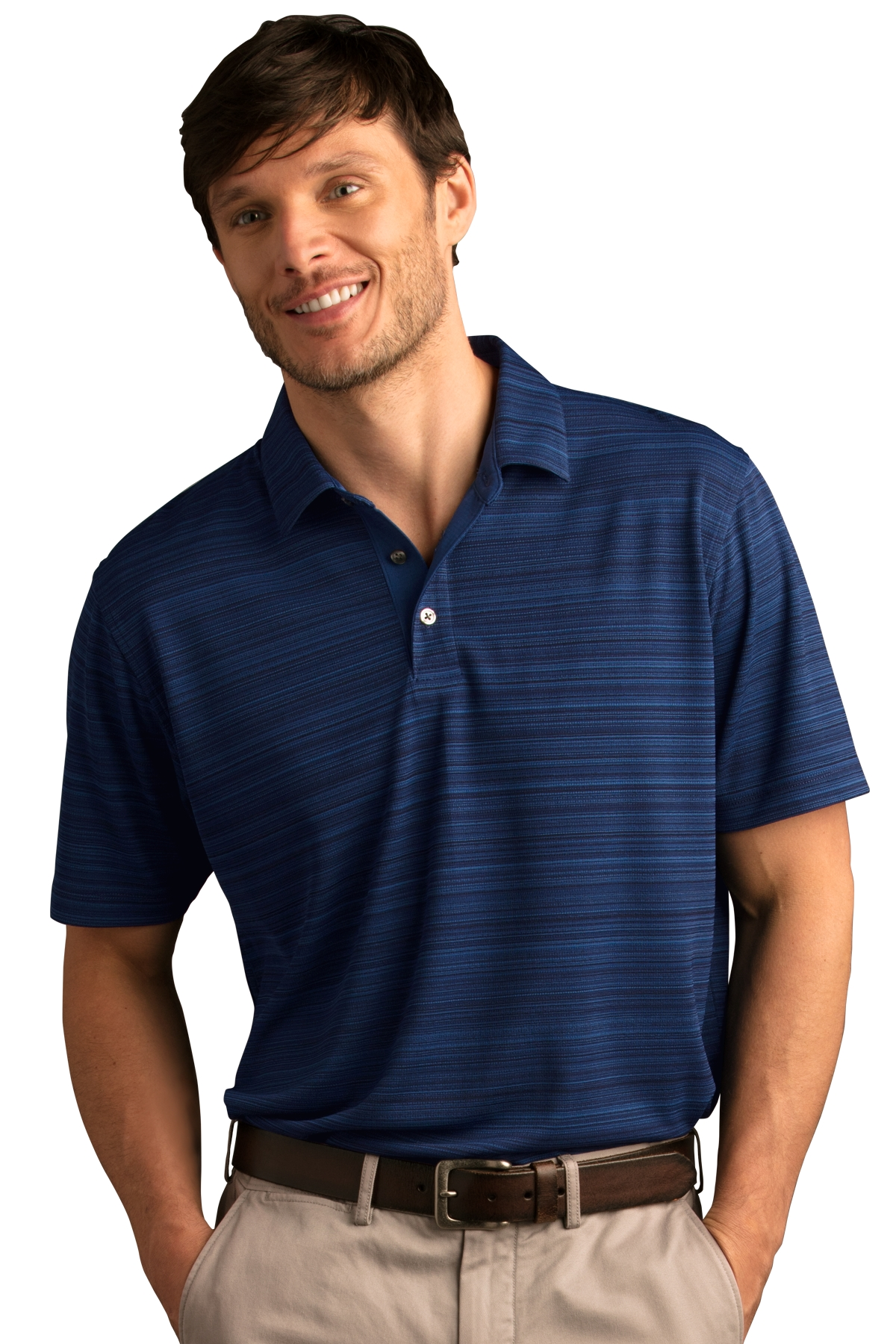 Vansport 2795 - Men's Strata Textured Polo