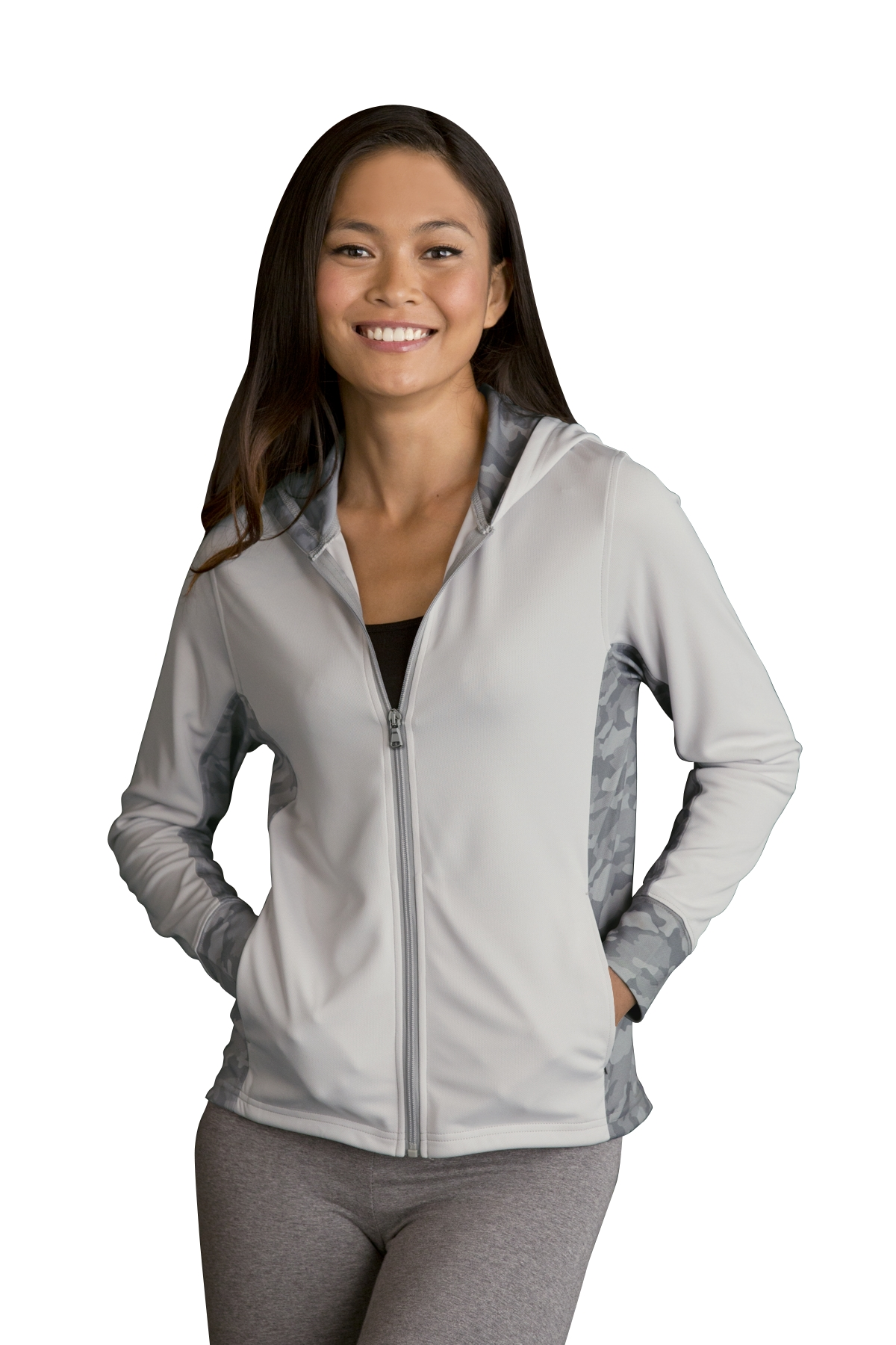 Vansport 3426 - Women's Pro Camo Block Full-Zip Hoodie