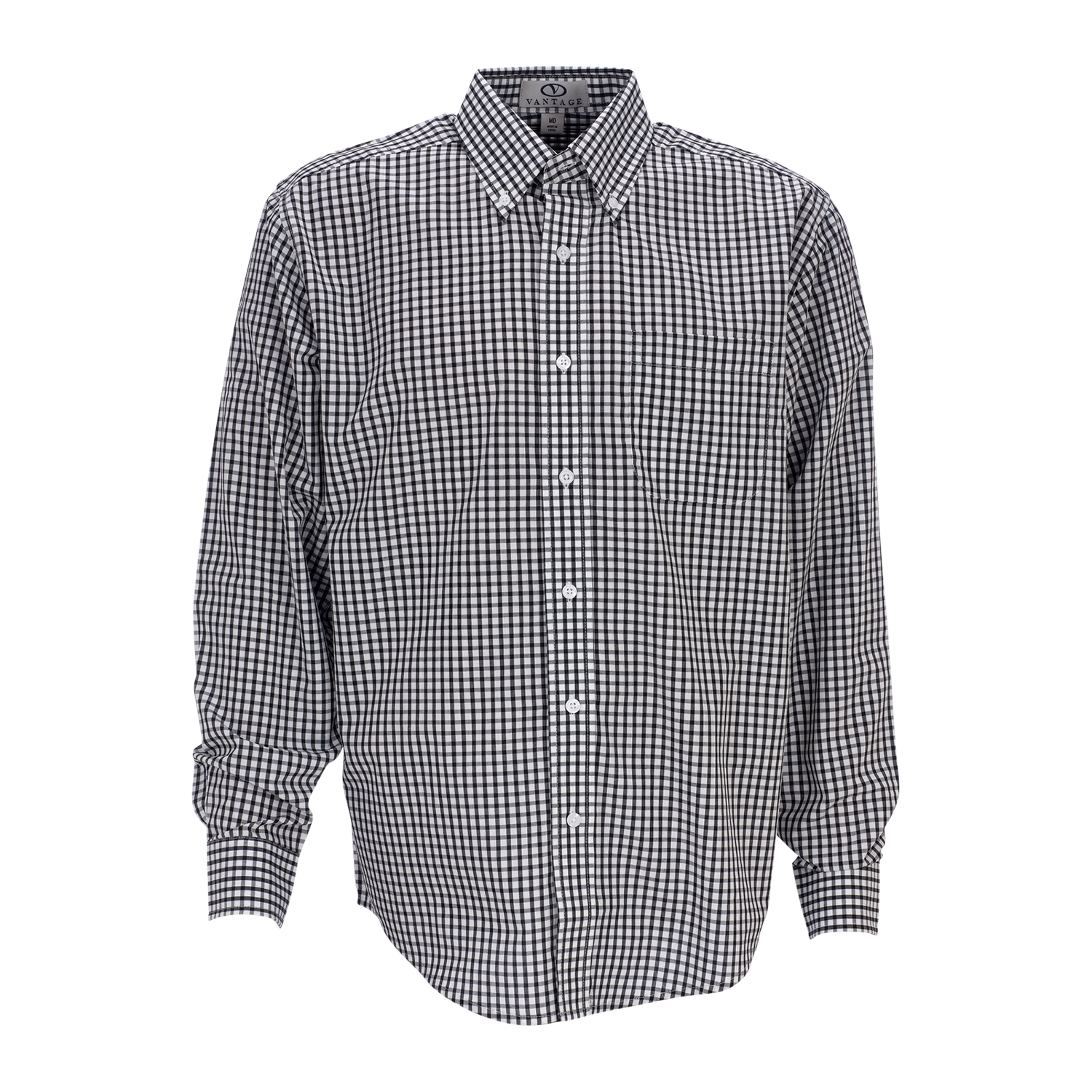 Vantage 1107 - Men's Easy-Care Gingham Check Shirt