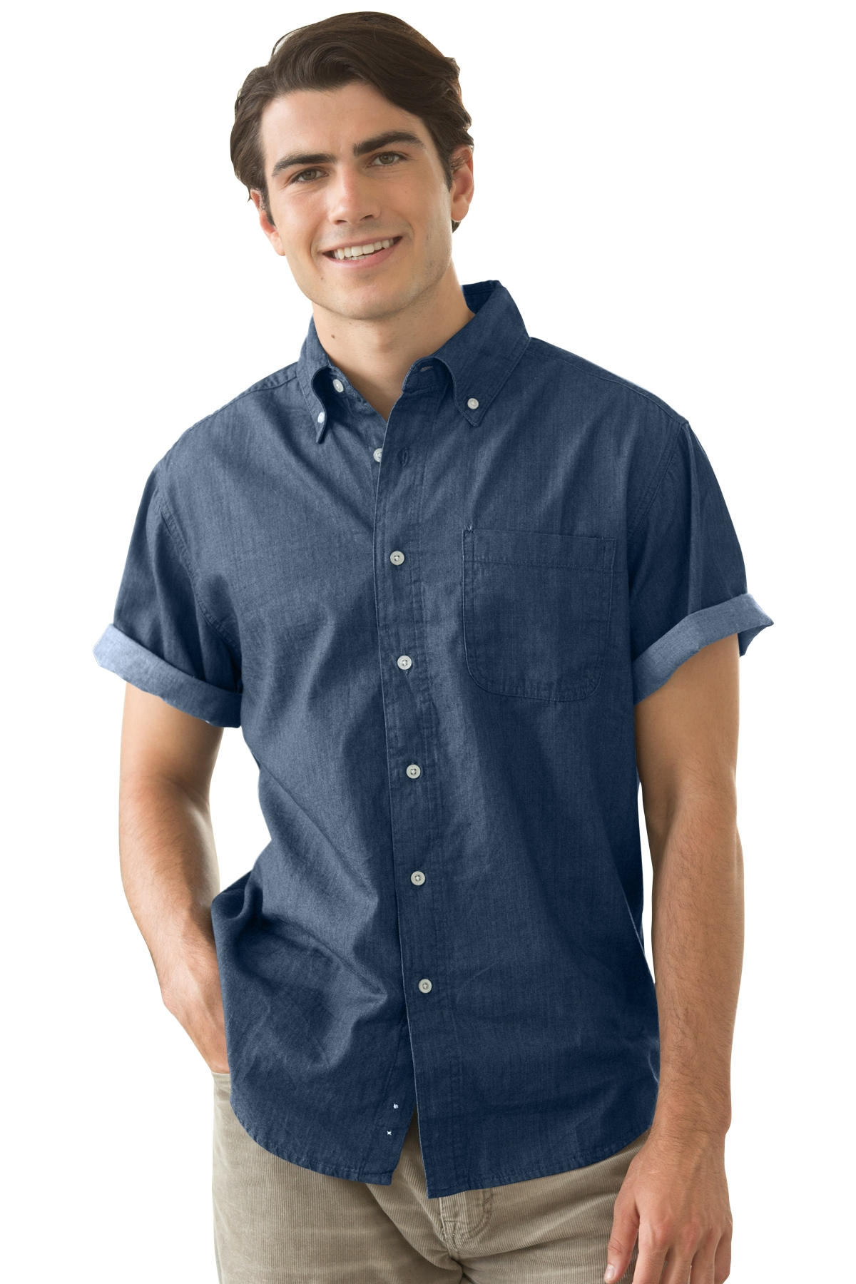Vantage 1977S - Men's Short-Sleeve Hudson Denim Shirt