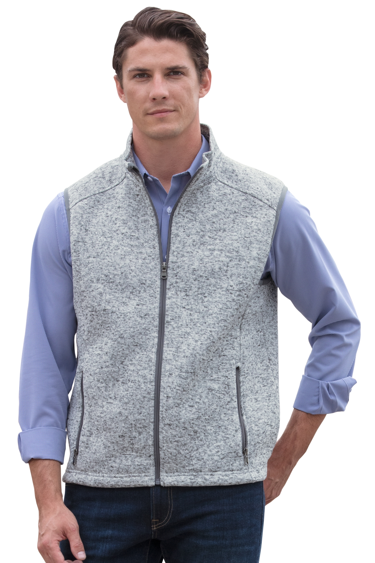 Vantage 3307 - Men's Summit Sweater-Fleece Vest