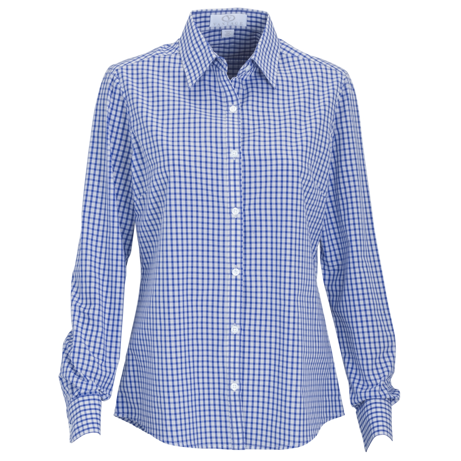 Vantage 1108 - Women's Easy-Care Gingham Check Shirt