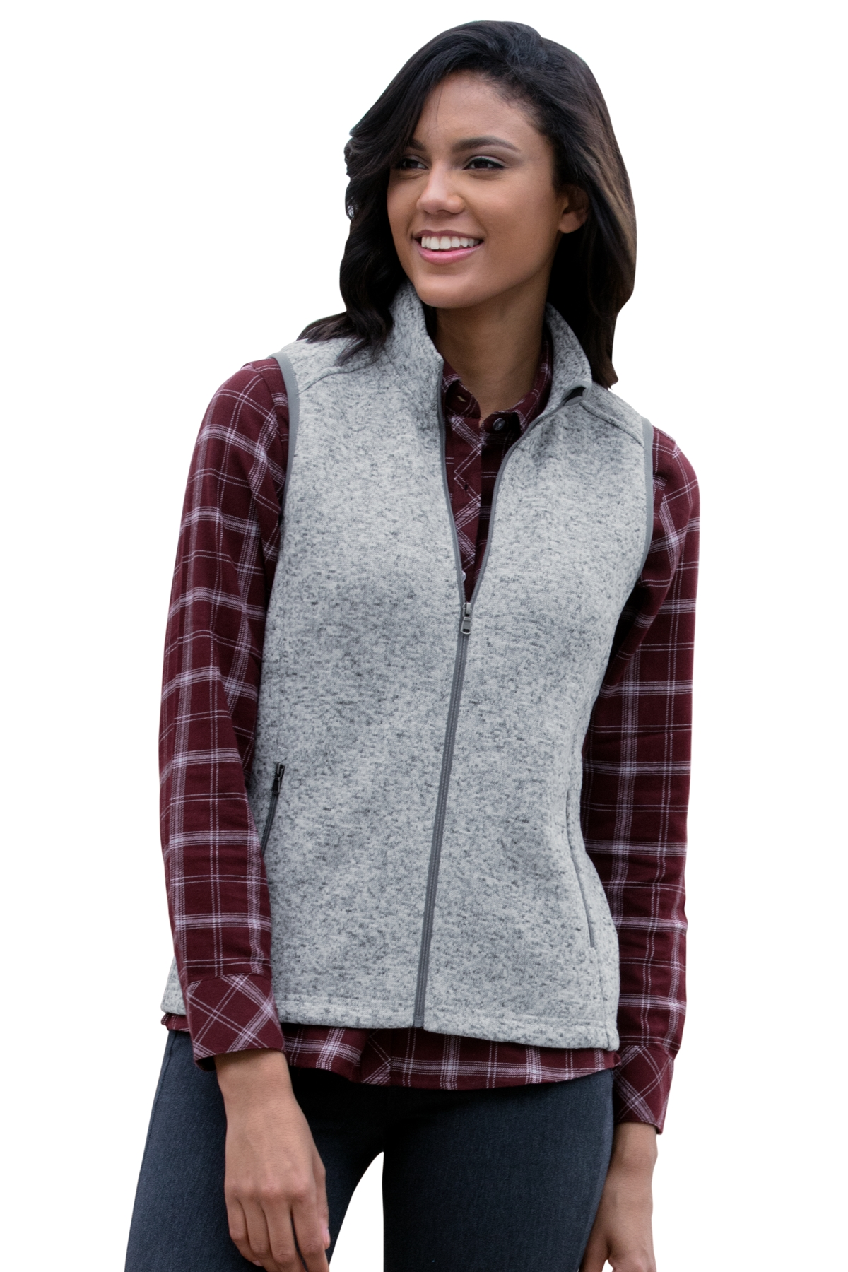 Vantage 3308 - Women's Summit Sweater-Fleece Vest