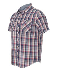 Weatherproof 154620 - Vintage Plaid Short Sleeve Shirt