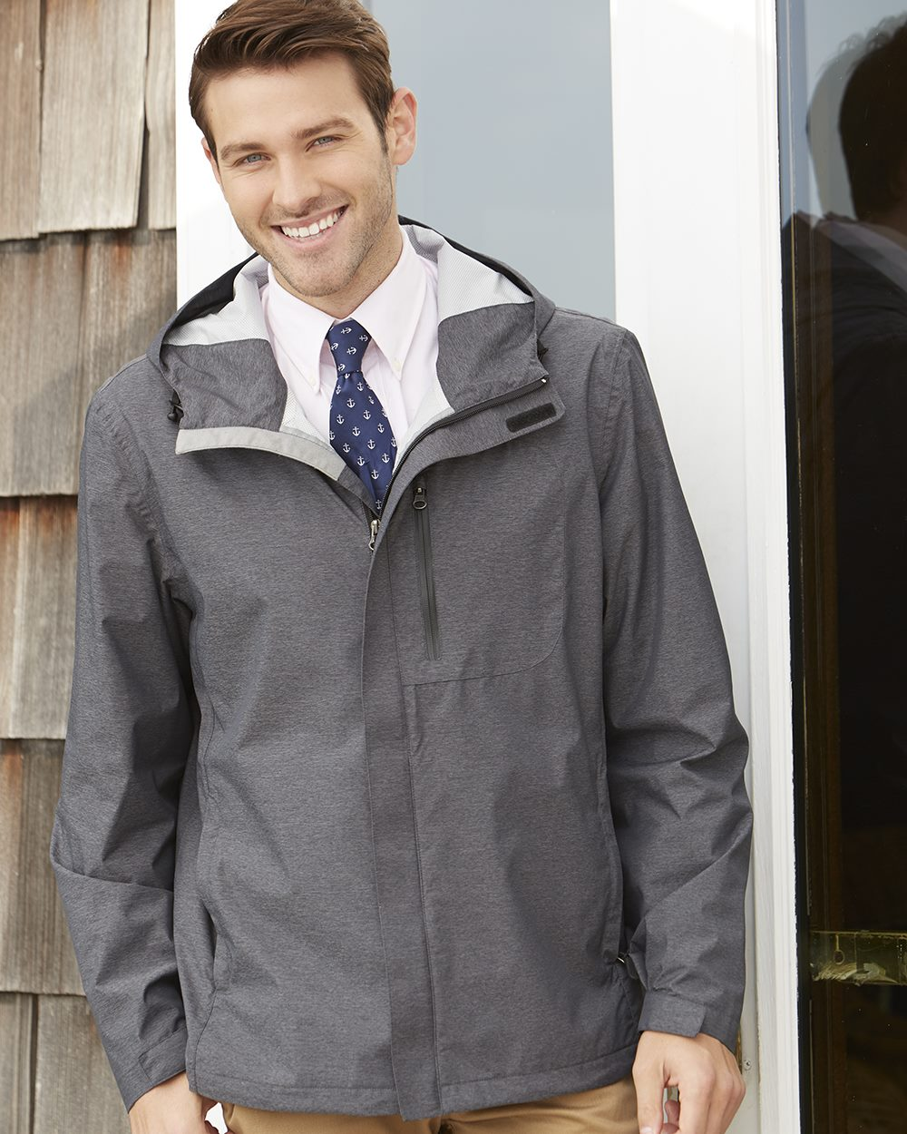 Weatherproof 17604 - 32 Degrees Melange Rain Jacket