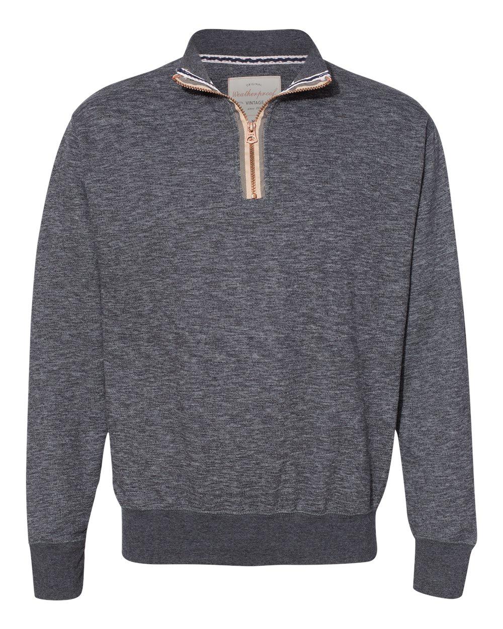 Weatherproof 198775 - Marled Quarter-Zip Sweatshirt