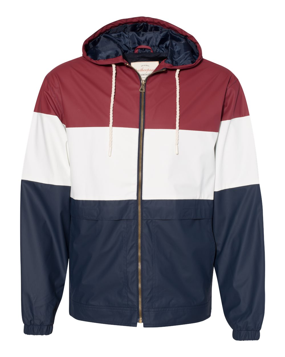 Weatherproof 20601 - Vintage Colorblocked Hooded Rain Jacket