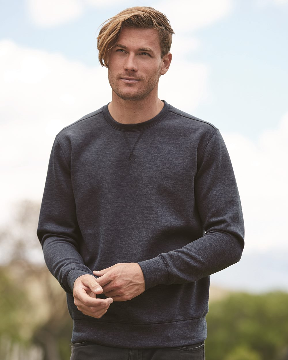 Weatherproof 18703 - Heat Last Men's Fleece Tech Crewneck Sweatshirt