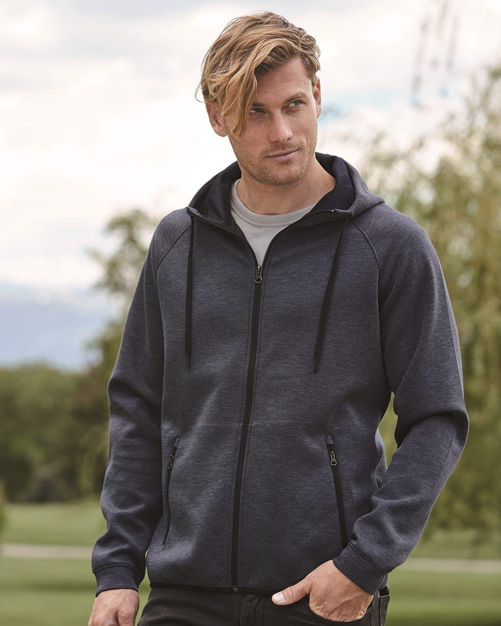 Weatherproof 18700 - Heat Last Men's Fleece Tech Hooded Full-Zip Sweatshirt