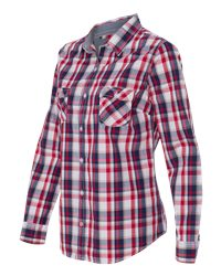 Weatherproof W154680 - Vintage Women's Plaid Long Sleeve ...
