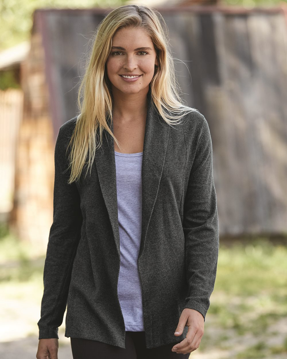 Weatherproof W173780 - Vintage Women's Cotton Cashmere Open Cardigan