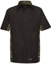 Wrangler WS40 - Short Sleeve Camo Shirt