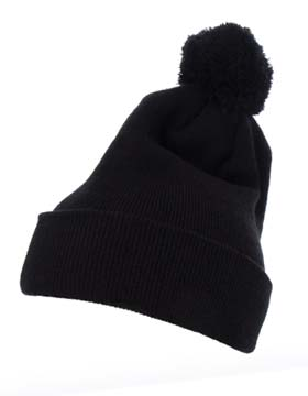 Yupoong 1501P - Cuffed Knit Beanie with Pom Pom