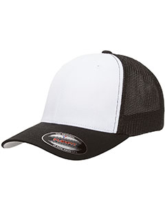 Yupoong 6511W - Drop Ship Flexfit Trucker Mesh White ...
