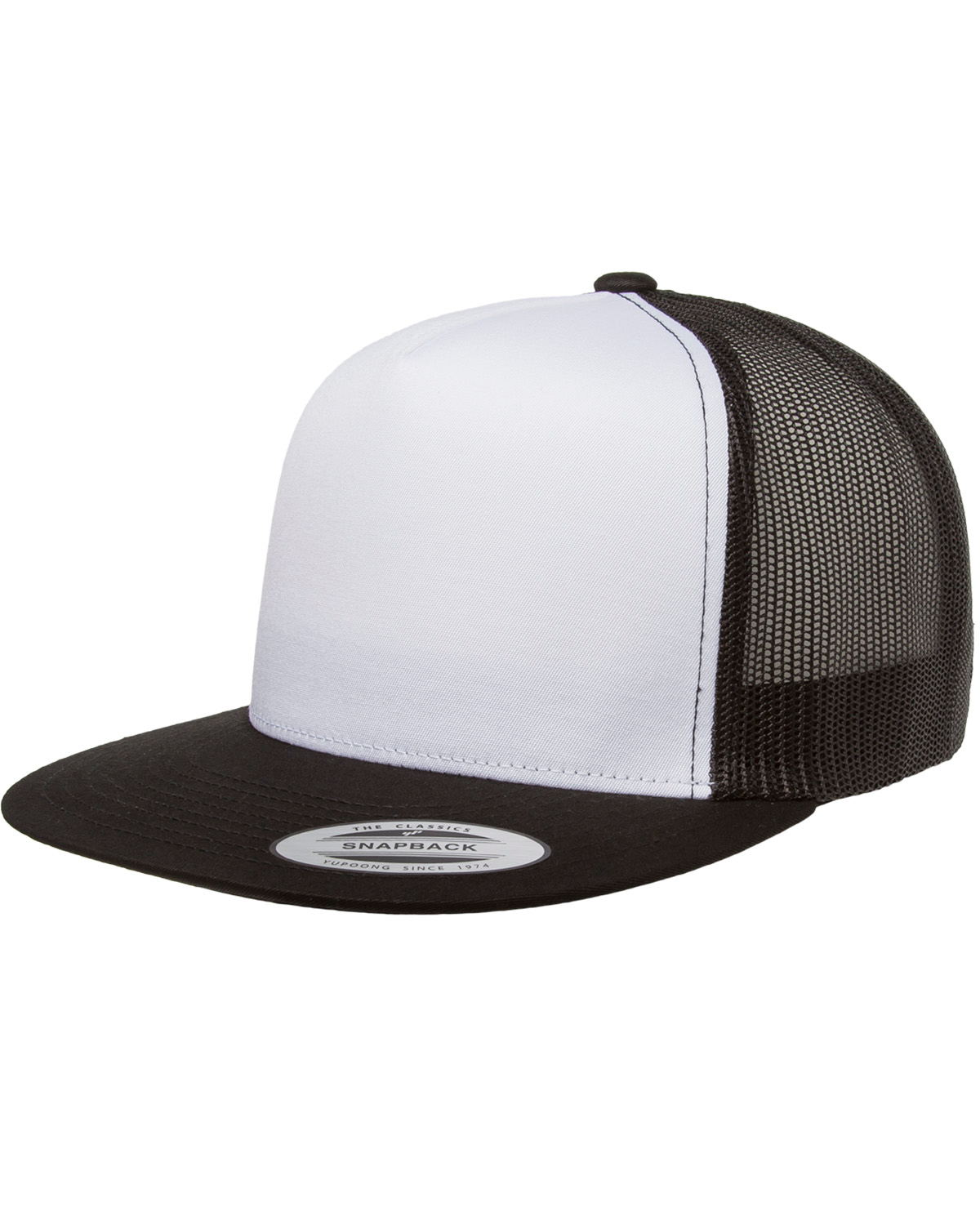 Yupoong 6006W - Adult Classic Trucker with White Front Panel Cap