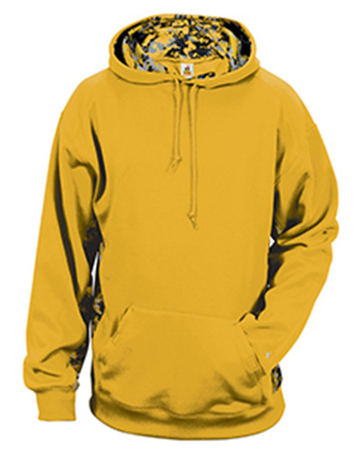 Badger Sport 1464 - Adult Digital Color Block Hooded Fleece