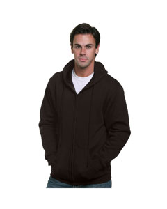 Bayside BA900 - Adult Full Zip Hooded Sweatshirt
