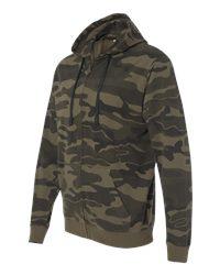 Burnside B8615 - Camo Full Zip Hooded Sweatshirt