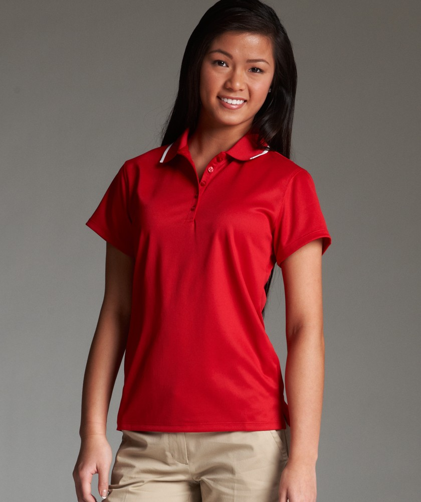 red womens polo shirt