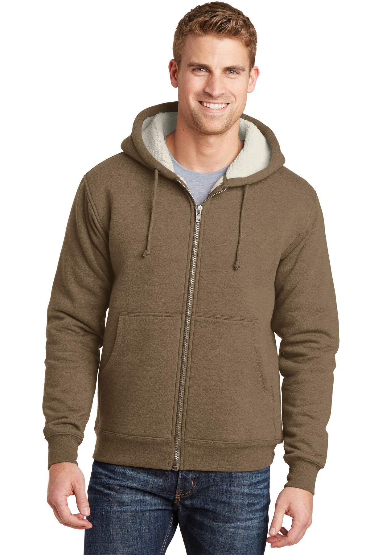 CornerStone  CS625 - Heavyweight Sherpa-Lined Hooded Fleece Jacket