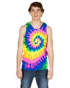 Dyenomite 420MS - Multi-Color Spiral Unisex Tank Top