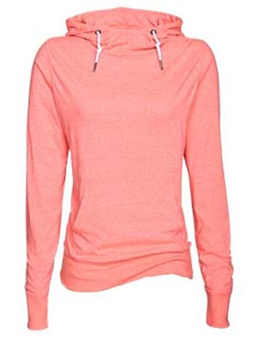 Enza 09179 - Ladies Long Sleeve Funnel Neck Hooded Tee