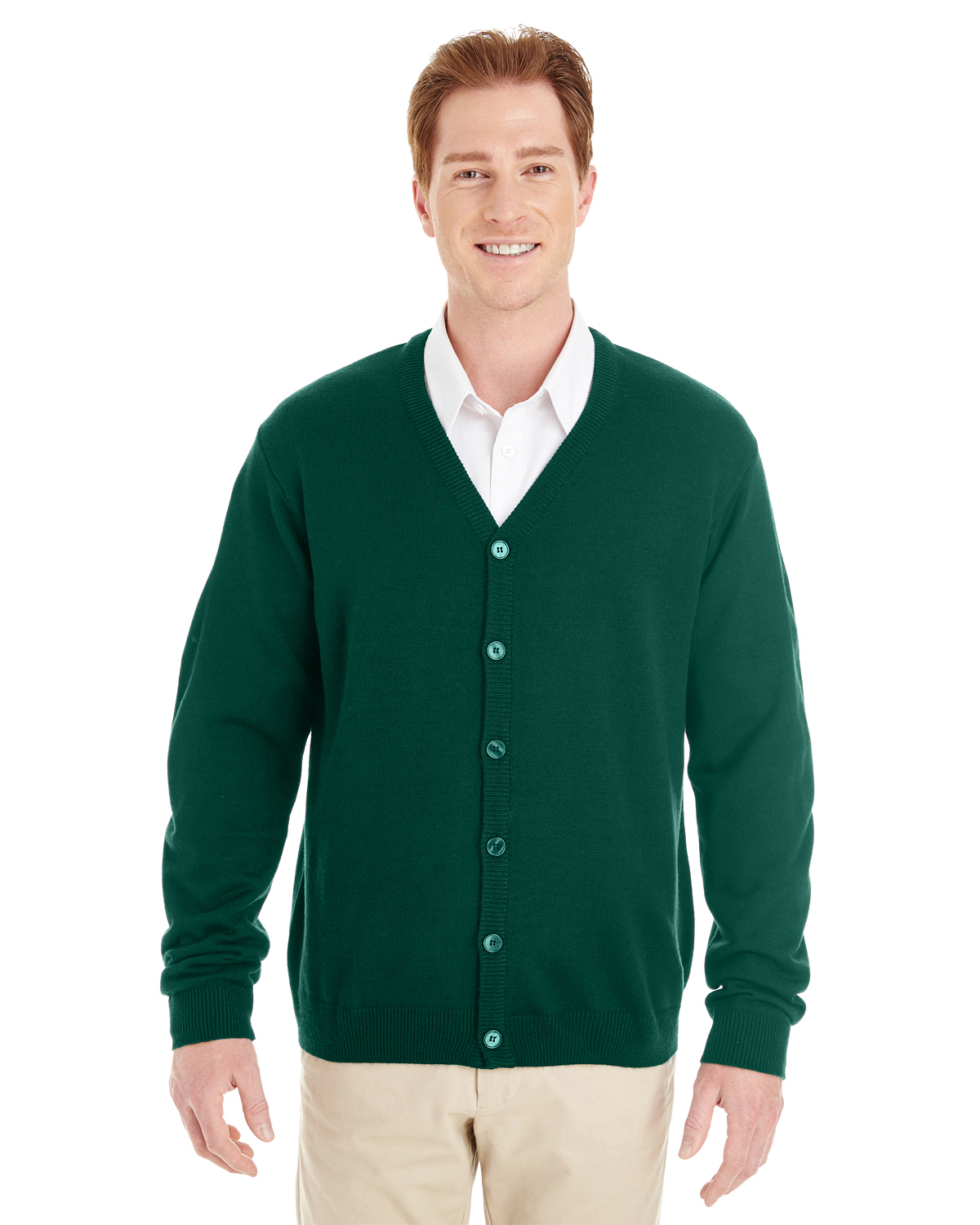 Harriton M425 - Men's Pilbloc™ V-Neck Button Cardigan Sweater