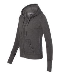J. America 8665 - Women's Oasis Wash French Terry Hooded Full Zip Sweatshirt