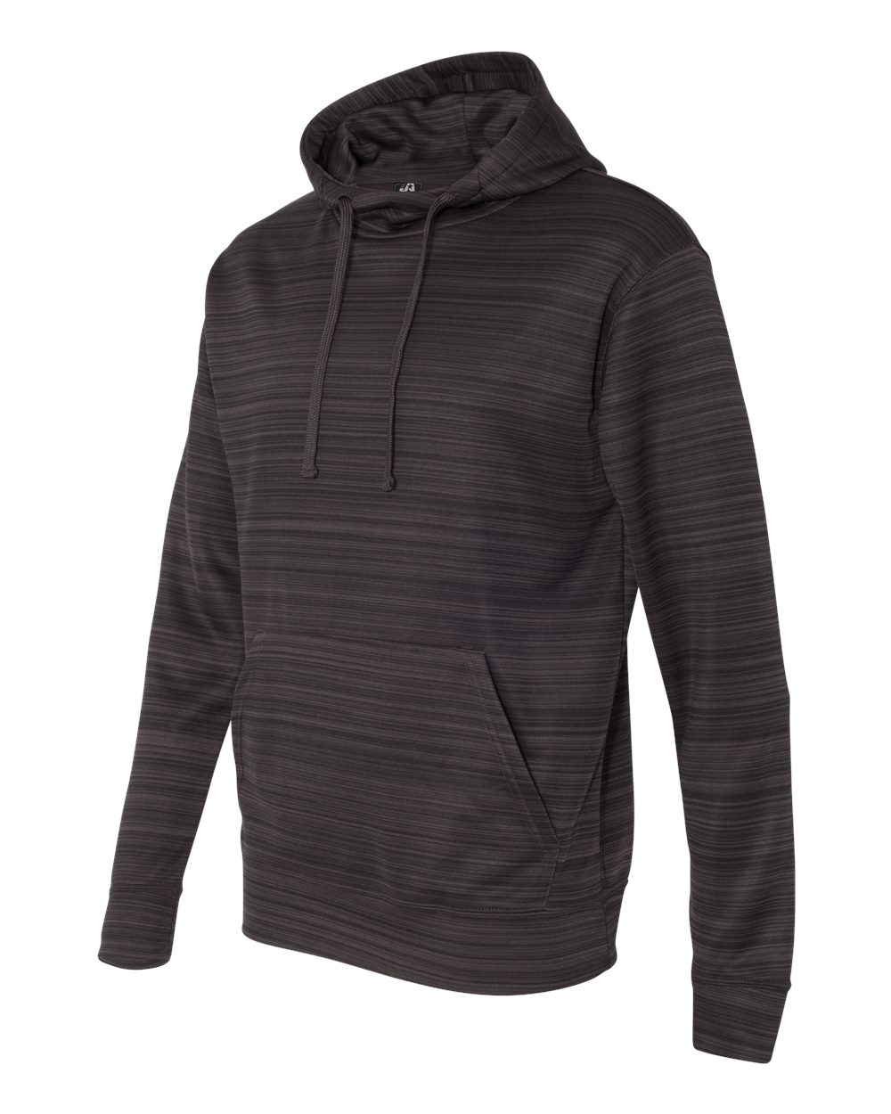 J.America 8661 - Odyssey Striped Performance Fleece Hooded Pullover Sweatshirt