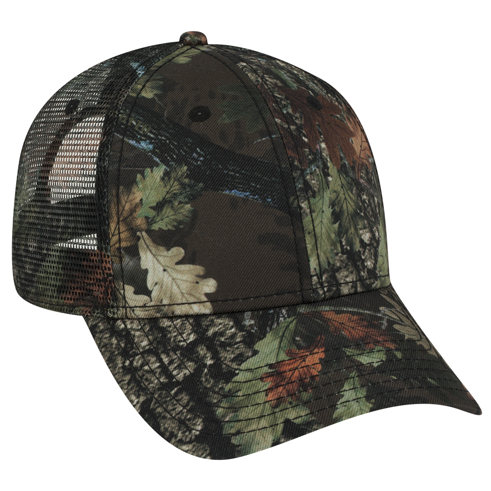 OTTOCAP 105-1223 - CAMOUFLAGE SUPERIOR POLYESTER TWILL LOW PROFILE STYLE MESH BACK CAPS