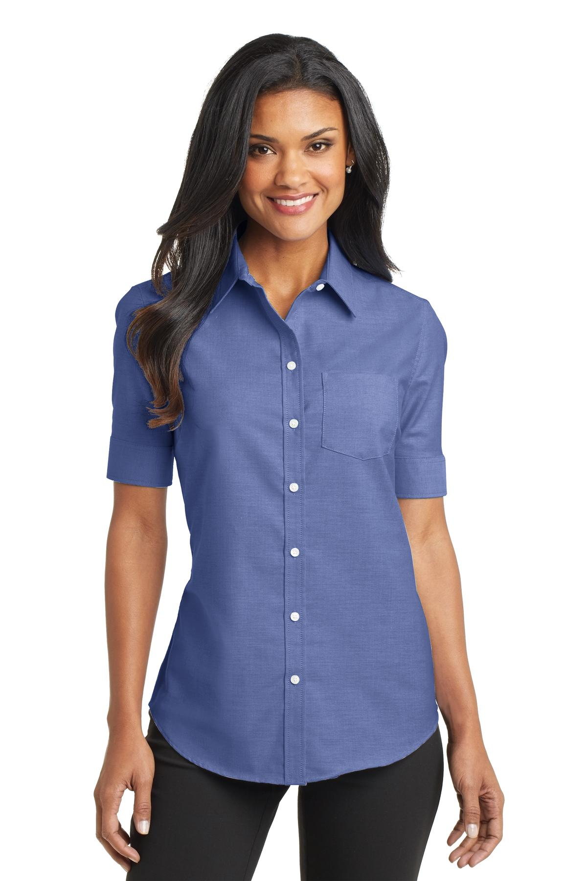 Port Authority® L659 - Ladies Short Sleeve SuperPro Oxford Shirt