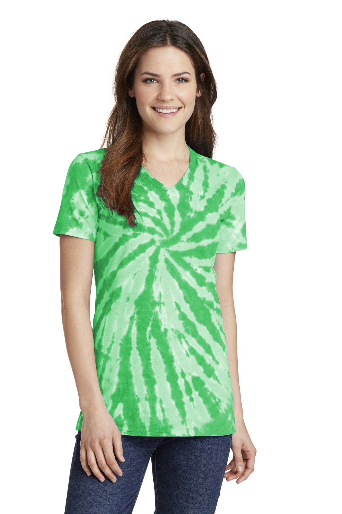 Port & Company  LPC147V - Ladies Essential Tie-Dye V-Neck Tee