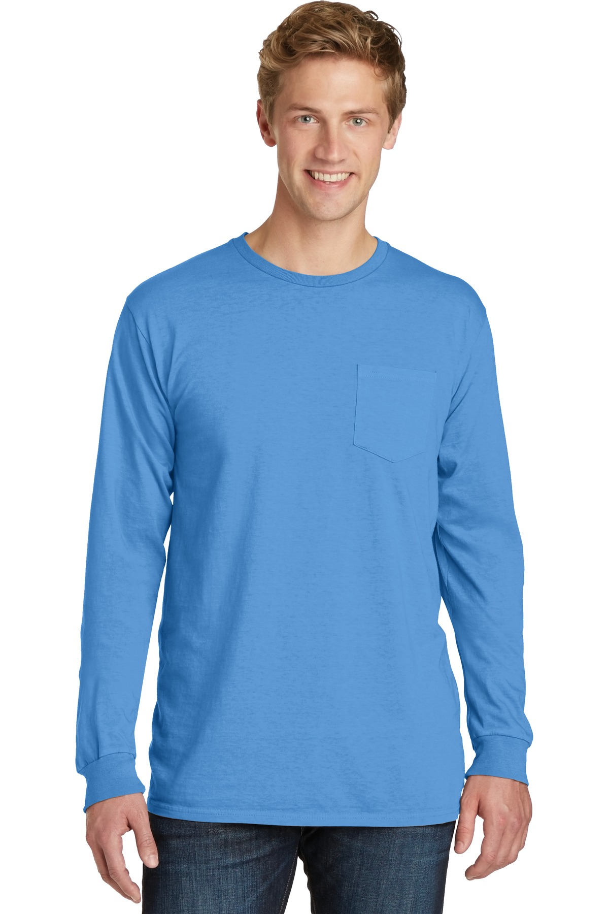 Port & Company  PC099LSP - Essential Pigment-Dyed Long Sleeve Pocket Tee