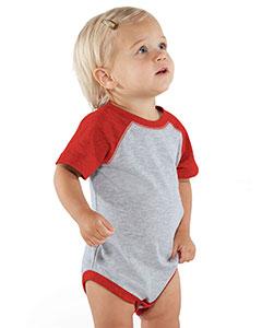 Rabbit Skins Drop Ship RS4430 - Infant Vintage Fine Jersey Baseball Bodysuit