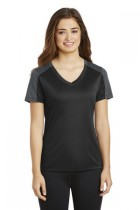 Sport-Tek® LST354 - Ladies PosiCharge® Competitor® Sleeve-Blocked V-Neck Tee